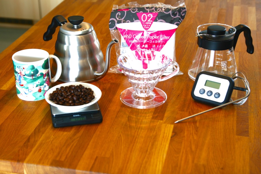 Things to gather to properly use the Hario V60 Brewing Method