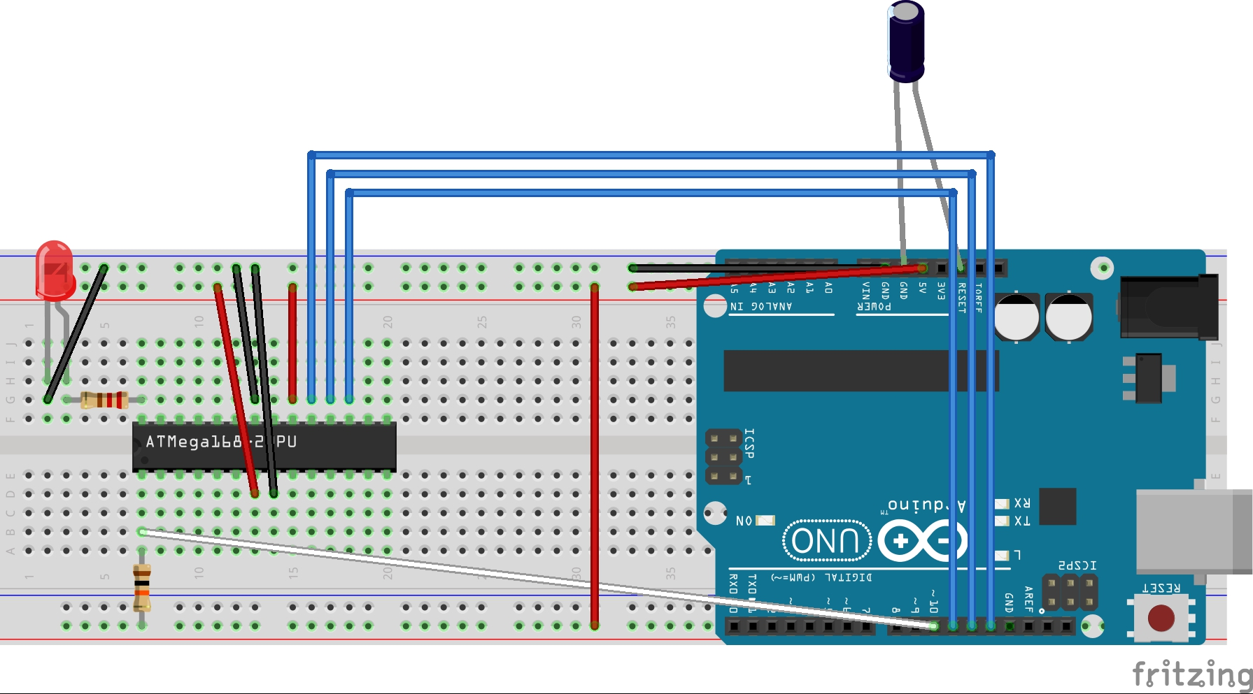 Trying to flash an atmega on a breadboard with uno