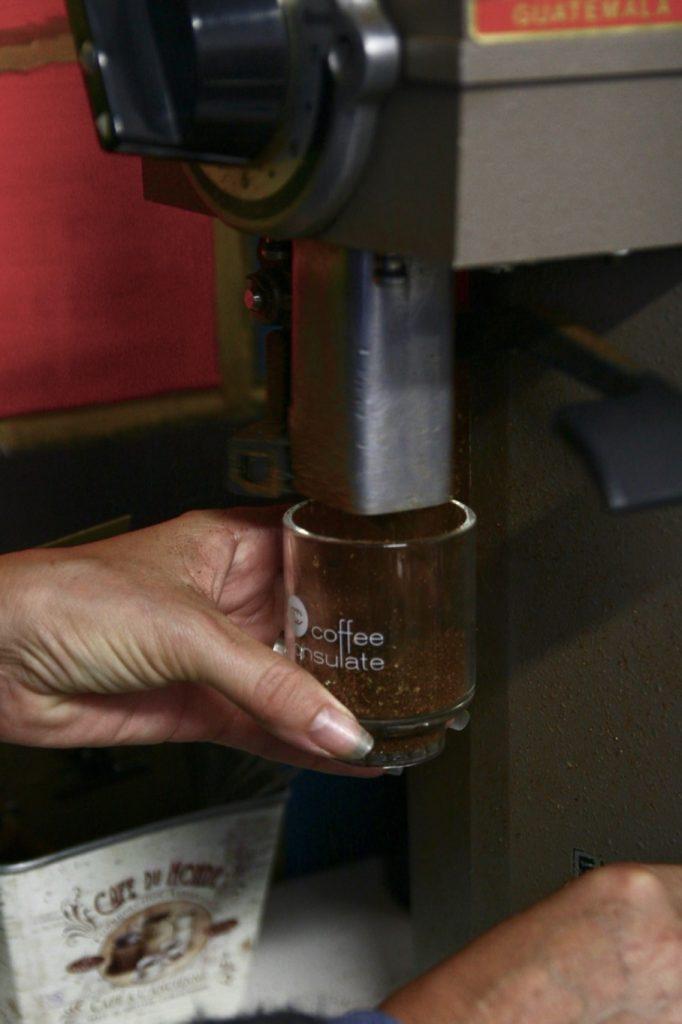 Grind the coffee on a medium coarse setting