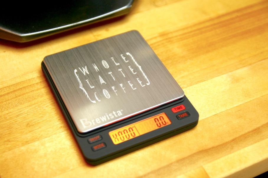 Brewista Smart Scale custom laser etching