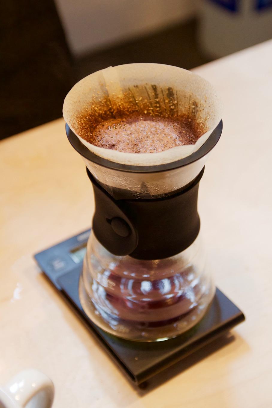 Ace Hotel - Bulldog Edition preparing a Square Mile coffee