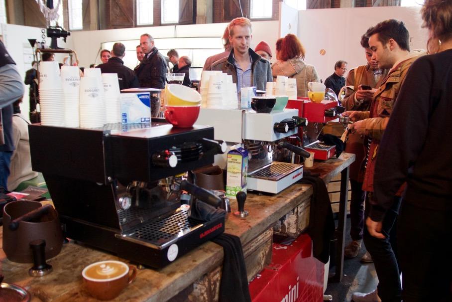 La Marzocco Linea Mini - Contest Area Amsterdam Coffee Festival 2016