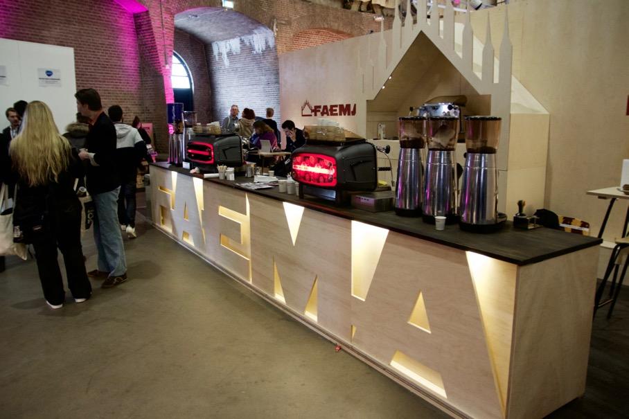 Faema stand at the Amsterdam Coffee Festival